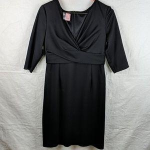 Donna Ricco 3/4 Sleeve Black Dress
